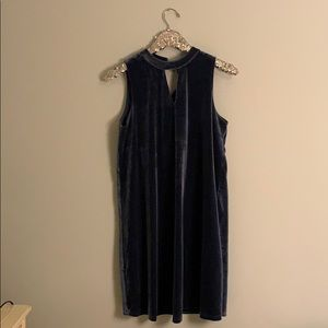 She + Sky blue velvet dress